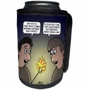 Knots Cartoon - Burnt Marshmallow smores - yum Can Cooler Bottle Wrap