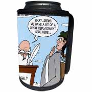 Heaven - St. Peter and the Golf Divot Replacement Sin of Omission Can Cooler Bottle Wrap
