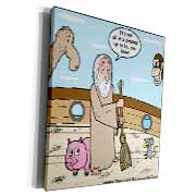 Not Much Glamour In Running Noah s Ark  Museum Grade Canvas Wrap