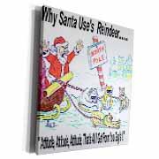 Kevin Edler, Why Santa Uses Reindeer  Museum Grade Canvas Wrap