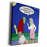 Halloween - Zombie on Atkins Diet Museum Grade Canvas Wrap