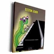 Eelton John the piano player Museum Grade Canvas Wrap