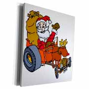 Nelson Deweys Reindeer Powered Santa Dragster Sleigh Museum Grade Canvas Wrap