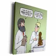 Rhesus or Reeses Monkey - laboratory dilemmas Museum Grade Canvas Wrap