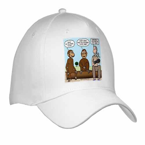 Dr. Jane Goodalls 50th anniversary at GDI - monkey business Cap