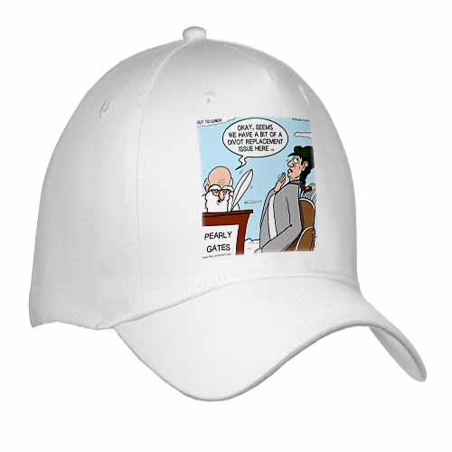 Heaven - St. Peter and the Golf Divot Replacement Sin of Omission Cap