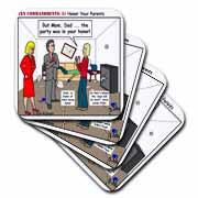 Ten Commandments 5 Honor Your Parents Coaster