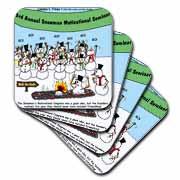 Snowman Motivational Seminar Coaster