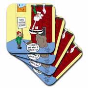 Dale Hunt - Santa Contributes to the Bad Economy Coaster
