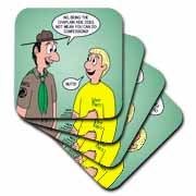 KNOTS cartoon - Scout confession and the chaplain aide Coaster