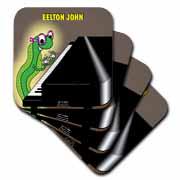 Eelton John the piano player Coaster