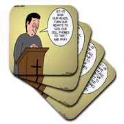 Prayer and Cell Phones Coaster