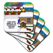 Simple Nativity Wins Neighborhood Christmas Display Contest Coaster