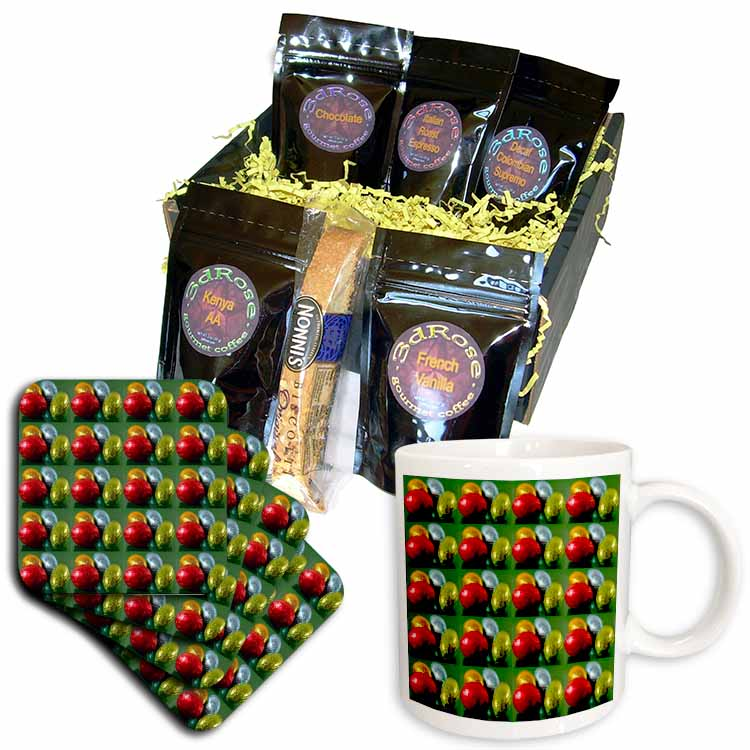 Chocolate Eggs Pattern Coffee Gift Basket