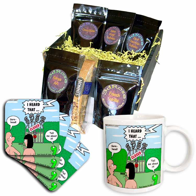 Adam and Eve - Lock-out at the Garden of Eden Coffee Gift Basket
