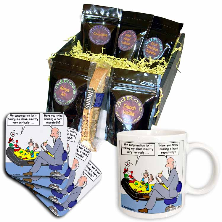Pastor Problems with Clown Ministry Coffee Gift Basket