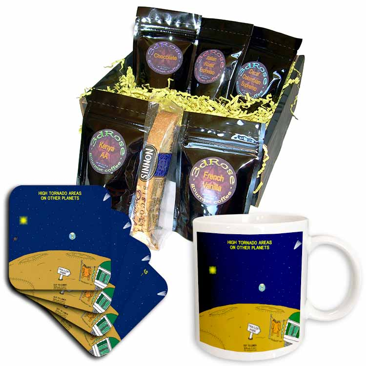 High Tornado Areas on Other Planets Trailer Parks Coffee Gift Basket