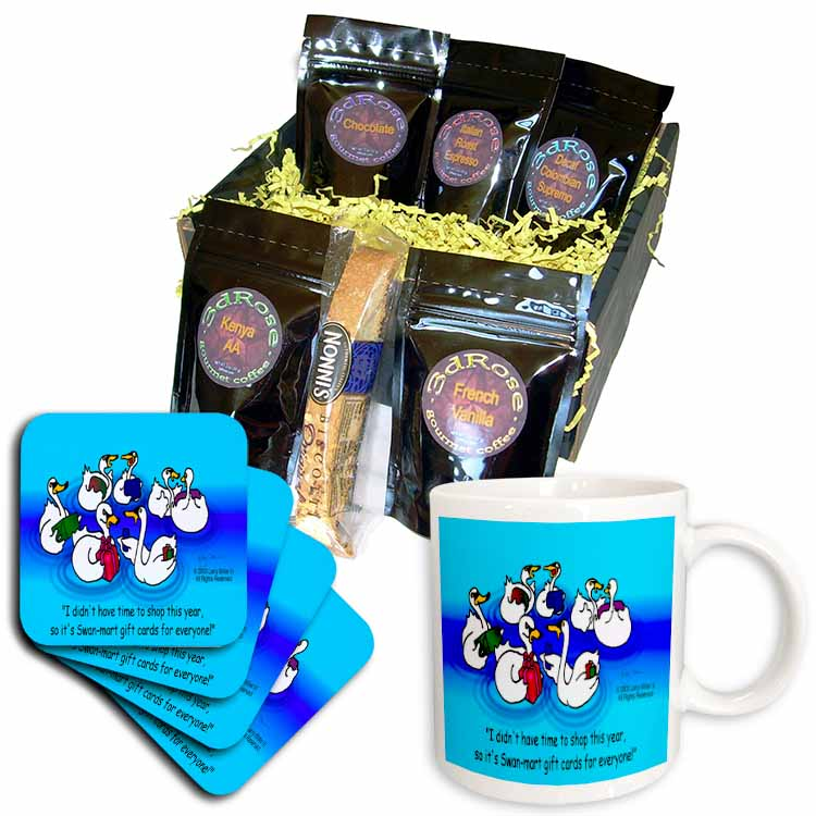 Larry Miller - Swan-Mart Gift Cards Coffee Gift Basket