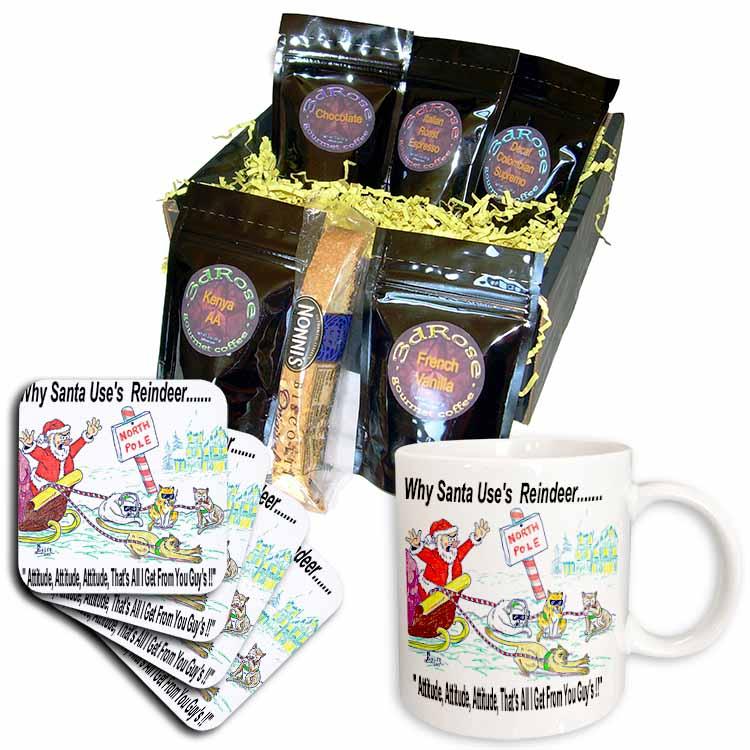Kevin Edler, Why Santa Uses Reindeer  Coffee Gift Basket