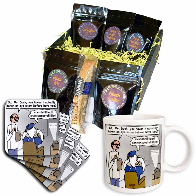 Famous Duck at the Eye Doctor Coffee Gift Basket