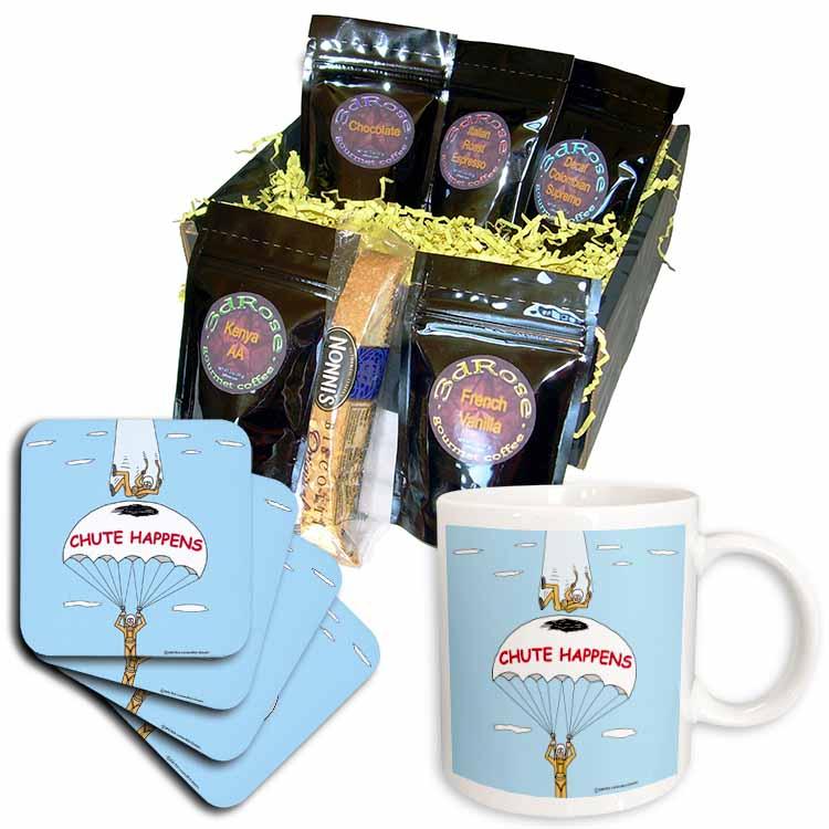 Chute Happens Coffee Gift Basket