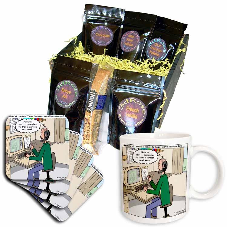 Pressures of Being a Cartoonist Coffee Gift Basket