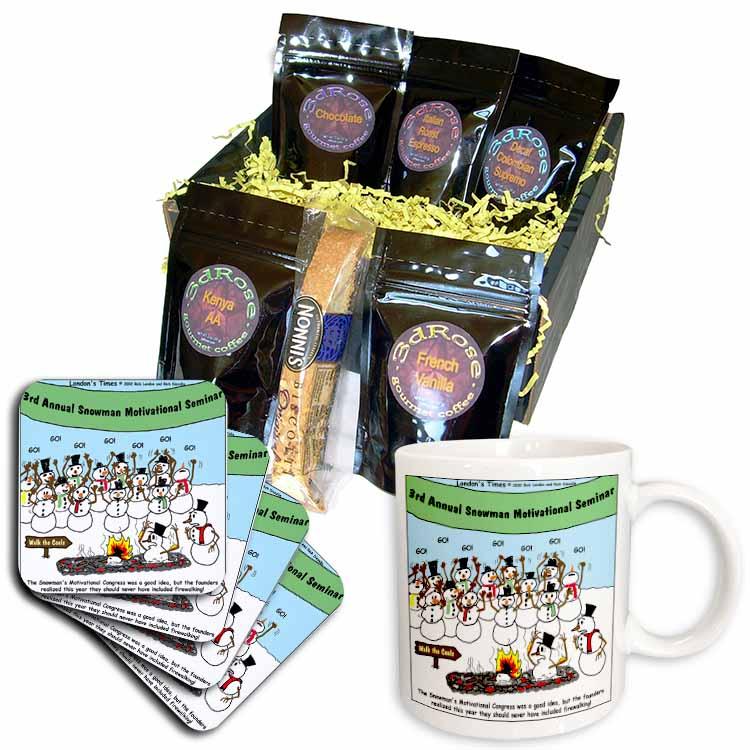 Snowman Motivational Seminar Coffee Gift Basket