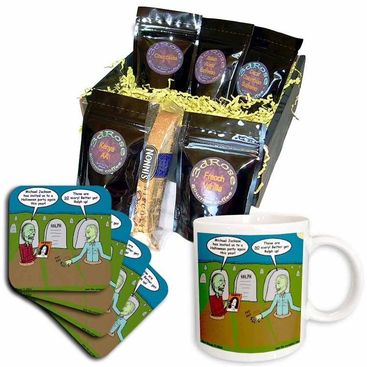 Halloween - Zombies are Invited to Michael Jacksons Party Coffee Gift Basket