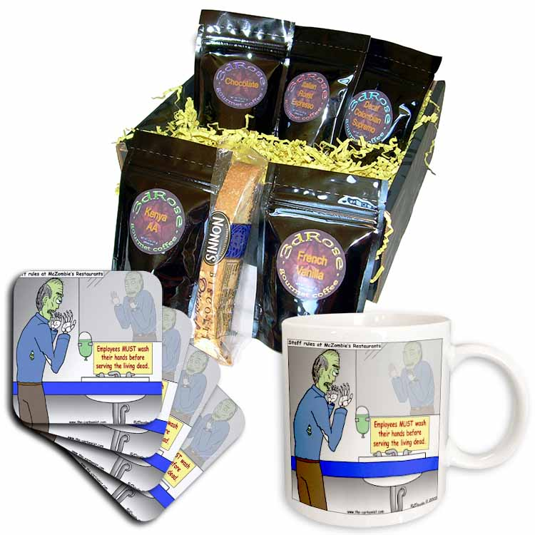 Halloween - Zombie Restaurant Warnings Coffee Gift Basket