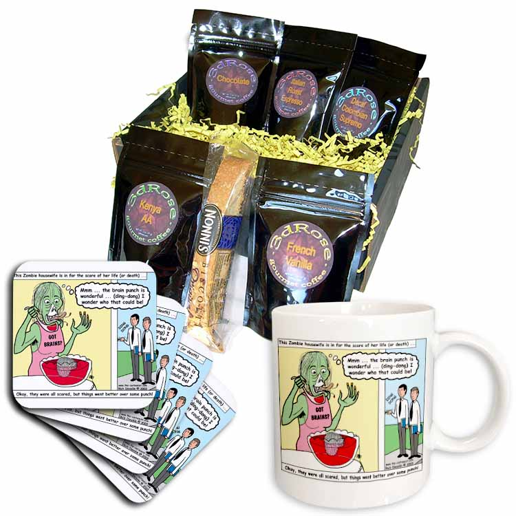 Halloween - Zombie Punch and the Religious Visitors Coffee Gift Basket
