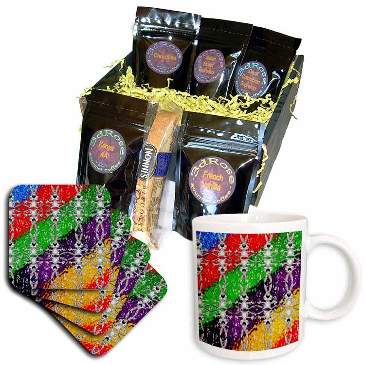 Cartoon Rabbit Pattern Coffee Gift Basket