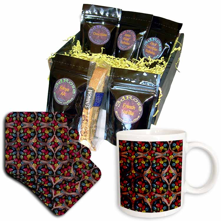 Chocolate Eggs in Coconut Shell Pattern Coffee Gift Basket