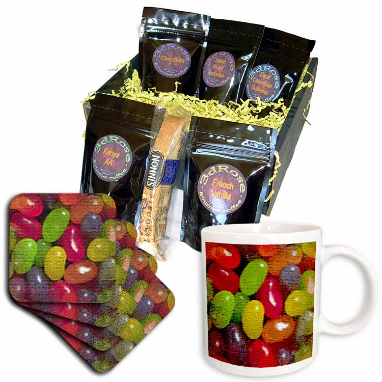 Jellybeans in Mosaic  Coffee Gift Basket