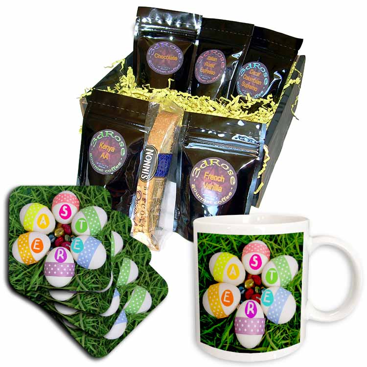 Chocolate and Real Easter Eggs Coffee Gift Basket