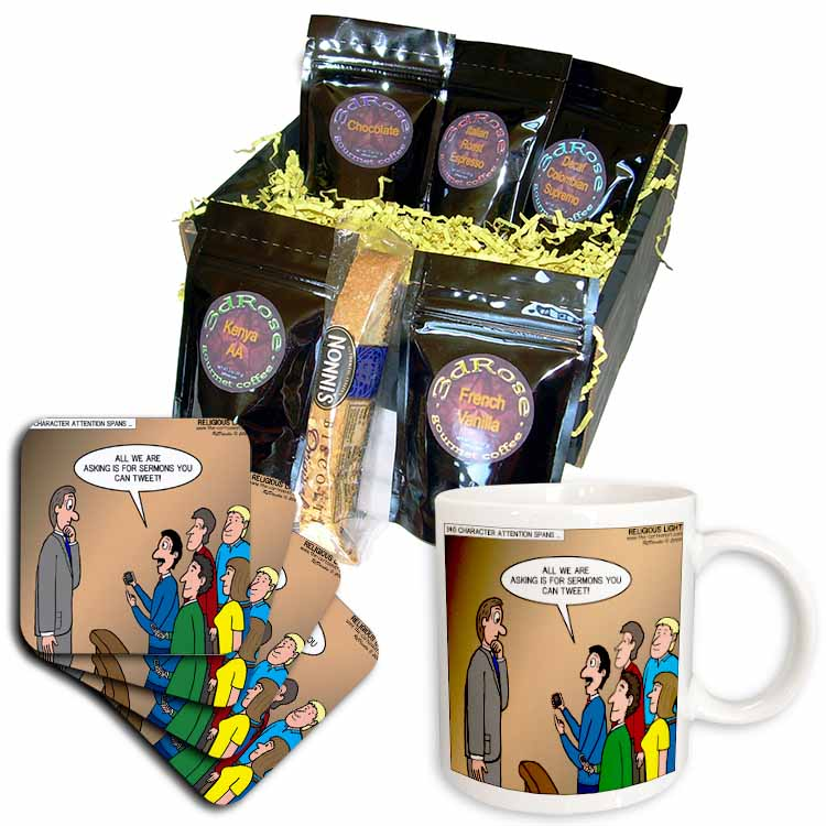 Twitter and Tweeting a Sermon Coffee Gift Basket