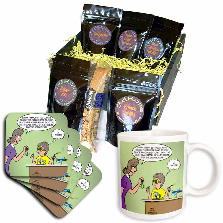 Jr. Knots Space Race with jet engine, rubber band and child prodigy scuot Coffee Gift Basket