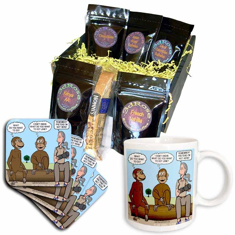 Dr. Jane Goodalls 50th anniversary at GDI - monkey business Coffee Gift Basket