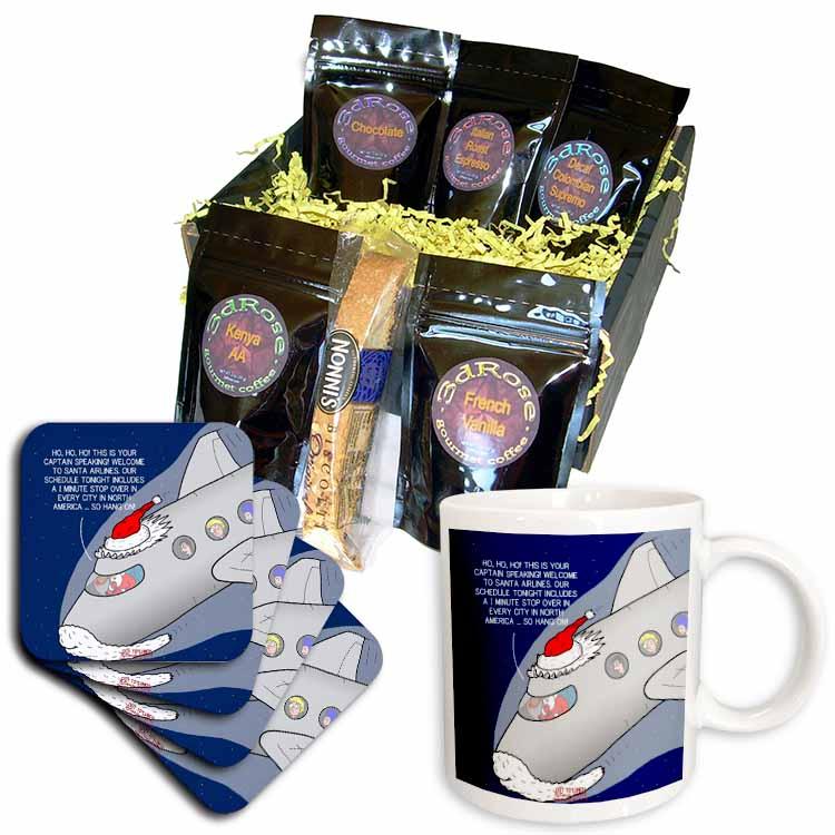 Santa Airlines Speedy Service Coffee Gift Basket