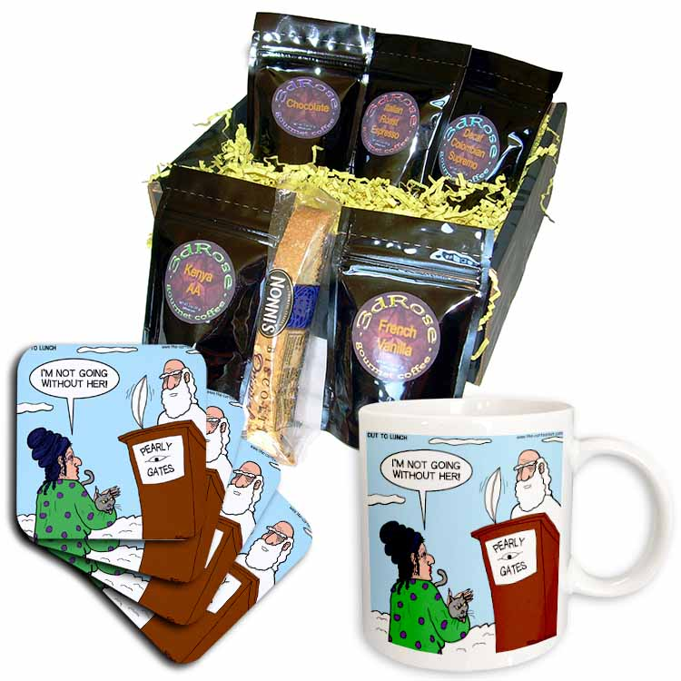 Heaven - St. Peter and the Cat Lady Coffee Gift Basket