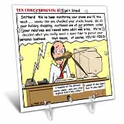 Ten Commandments 8 Dont Steal Desk Clock