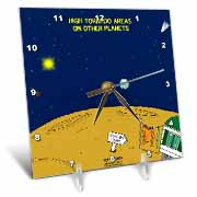 High Tornado Areas on Other Planets Trailer Parks Desk Clock