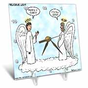Heavenly Angels Question and Answer - Its All Good Desk Clock