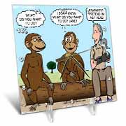 Dr. Jane Goodalls 50th anniversary at GDI - monkey business Desk Clock