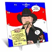 The Trace Adkins Diets Desk Clock