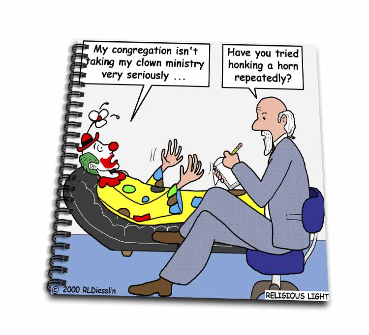 Pastor Problems with Clown Ministry Drawing Book
