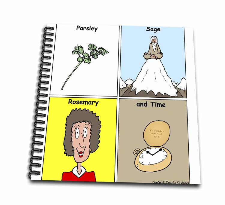 Parsley Sage Rosemary and Time Drawing Book