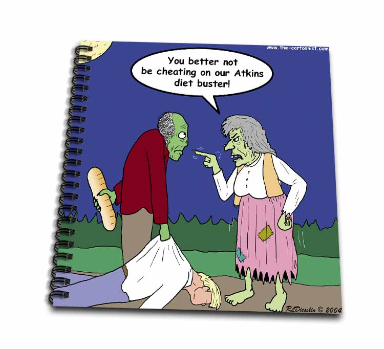 Halloween - Zombie on Atkins Diet Drawing Book