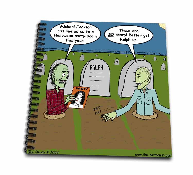 Halloween - Zombies are Invited to Michael Jacksons Party Drawing Book