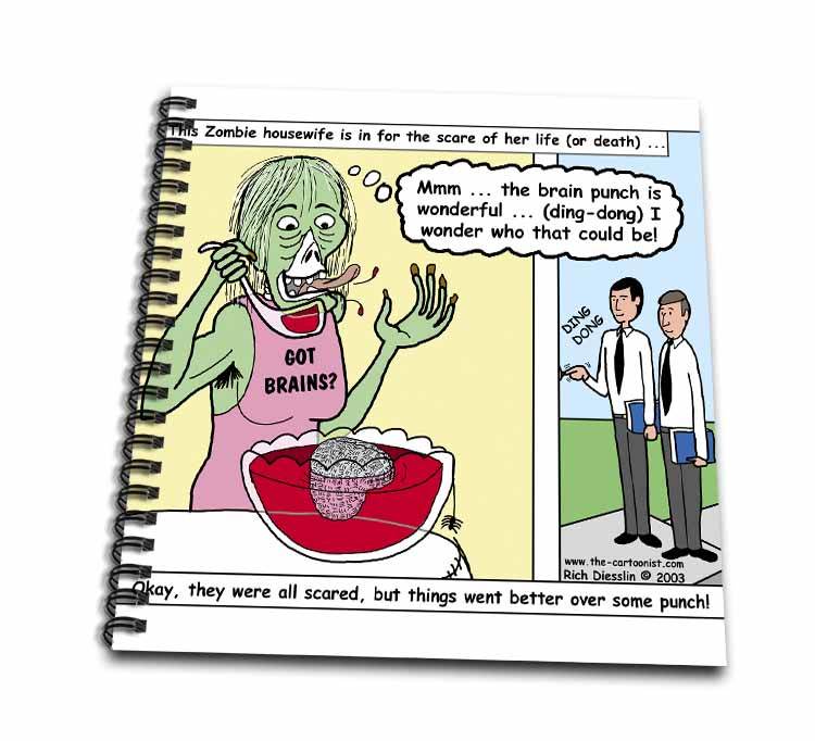 Halloween - Zombie Punch and the Religious Visitors Drawing Book