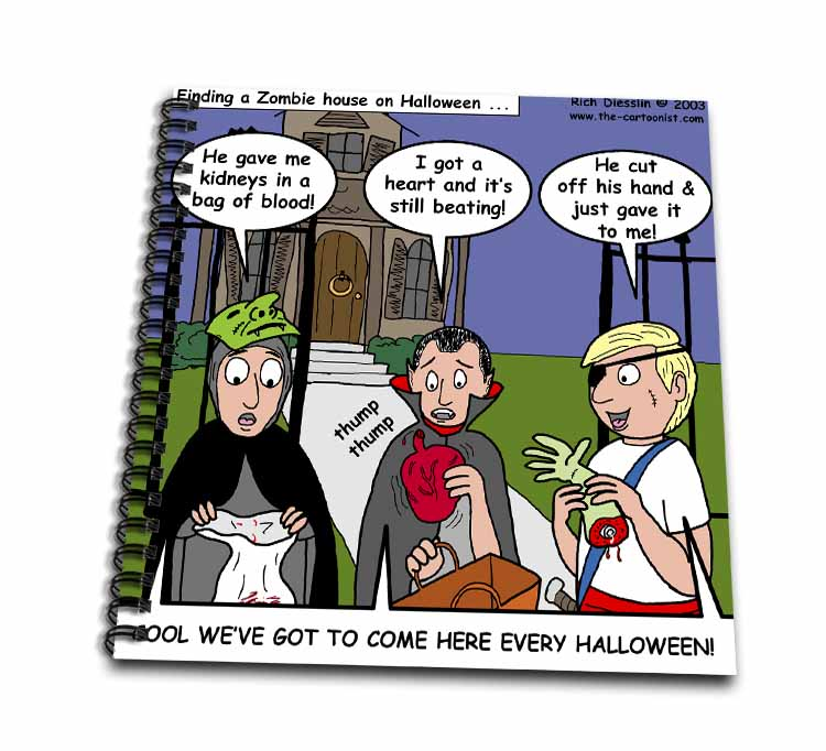 Halloween - Zombie Trick or Treat Drawing Book